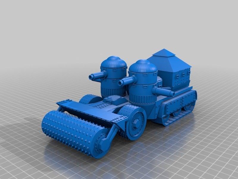 7881dc7e812a3948d164e6421c2a169b.png Télécharger fichier STL gratuit Demi-châssis de forteresse de combat mobile orque / orque • Design à imprimer en 3D, redstarkits