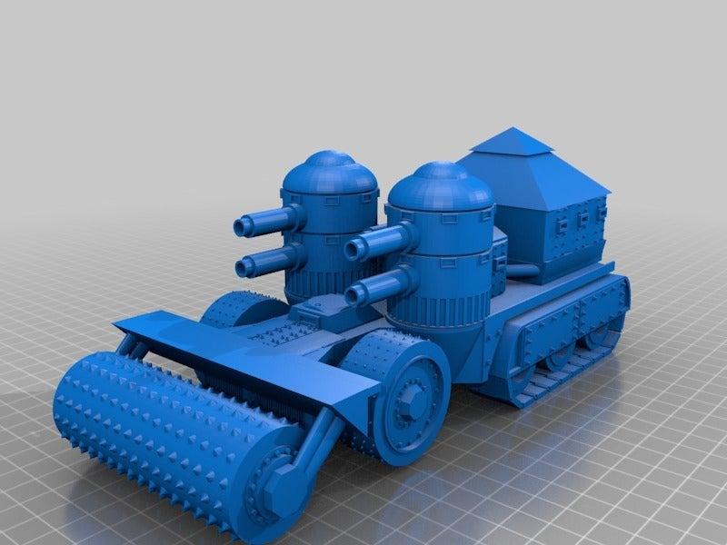 643f511e65e7653bd082fecf3f69fb36.png Télécharger fichier STL gratuit Demi-châssis de forteresse de combat mobile orque / orque • Design à imprimer en 3D, redstarkits