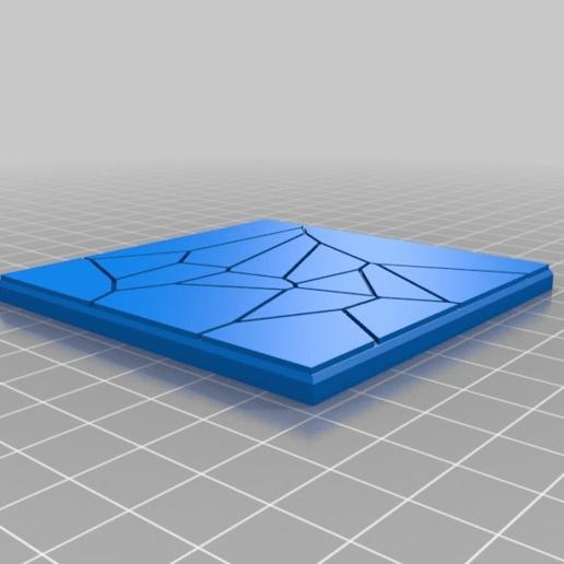 Télécharger fichier 3D gratuit Dalles carrées de 75mm pour la zone morte 3D Set 1, redstarkits