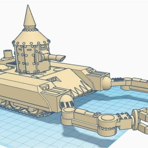 "Download free STL files Ork tank ""Gut Ripper"" 28mm wargaming vehicle, redstarkits"