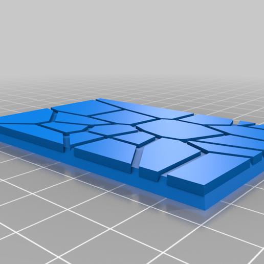 GW_style_50mm___75mm_rectangle_Cracks_2.png Download free STL file 75mm * 50mm rectangular Base for wargames Warhammer fantasy battle • 3D printable object, redstarkits