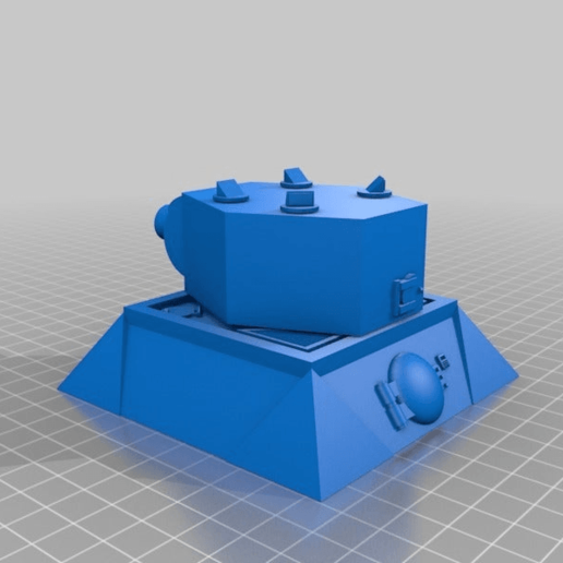 Download free 3D printer designs 28mm Sci-fi wargaming turret emplacement, redstarkits
