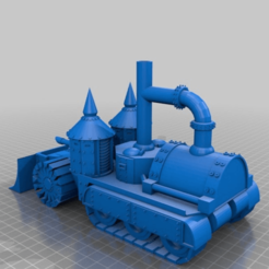 Download free 3D printing files Armoured Steam powered Half-track, redstarkits