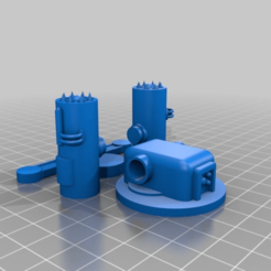 539939d7890985655be3bdfb57a199bd.png Download free STL file Alternative turrets for Ant WAPC sci-fi walking troop transport for 28mm sci-fi wargames or sci-fi mdel making • Model to 3D print, redstarkits