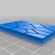 GW_style_50mm___75mm_rectangle_Cracks_5.png Download free STL file 75mm * 50mm rectangular Base for wargames Warhammer fantasy battle • 3D printable object, redstarkits