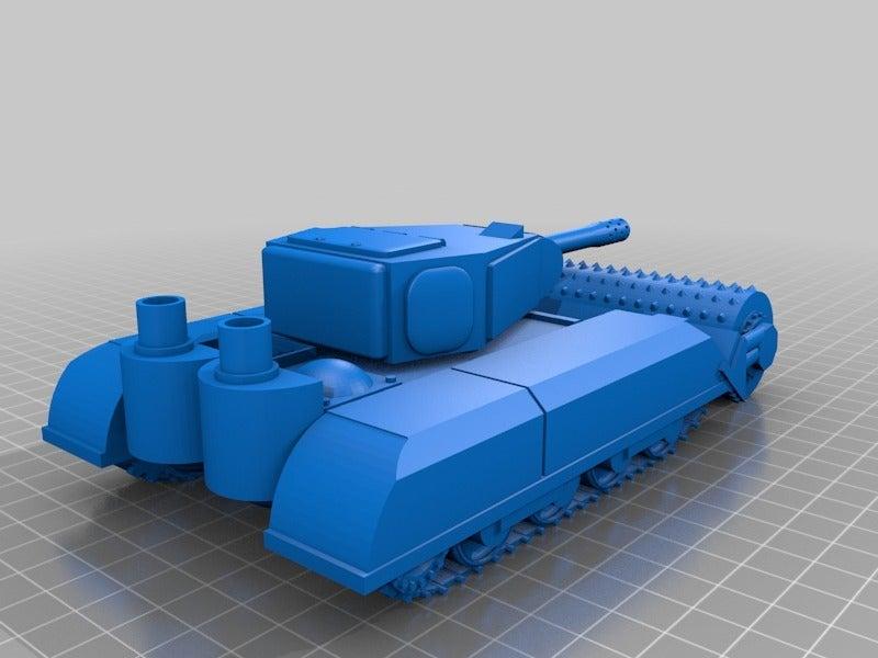 """477b00ab660811c624af4213ee419a12.png Télécharger fichier STL gratuit Ork / Orc Tank """"Bone Breaker"""" 28mm wargames véhicule • Plan pour impression 3D, redstarkits"""