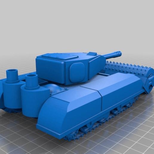 "Download free 3D printing templates Ork / Orc Tank ""Bone Breaker"" 28mm wargames vehicle, redstarkits"