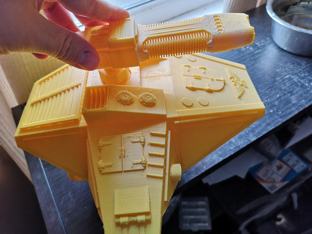 thumbnail3.jpg Télécharger fichier STL gratuit Connecteur supérieur d'arme de carapace pour Lucius Reaver titan à l'échelle 28mm • Objet pour imprimante 3D, redstarkits