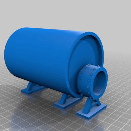 Download free STL file Fuel storage and Brick buildings for Sci-fi Modular pipe network for wargaming scenery, redstarkits