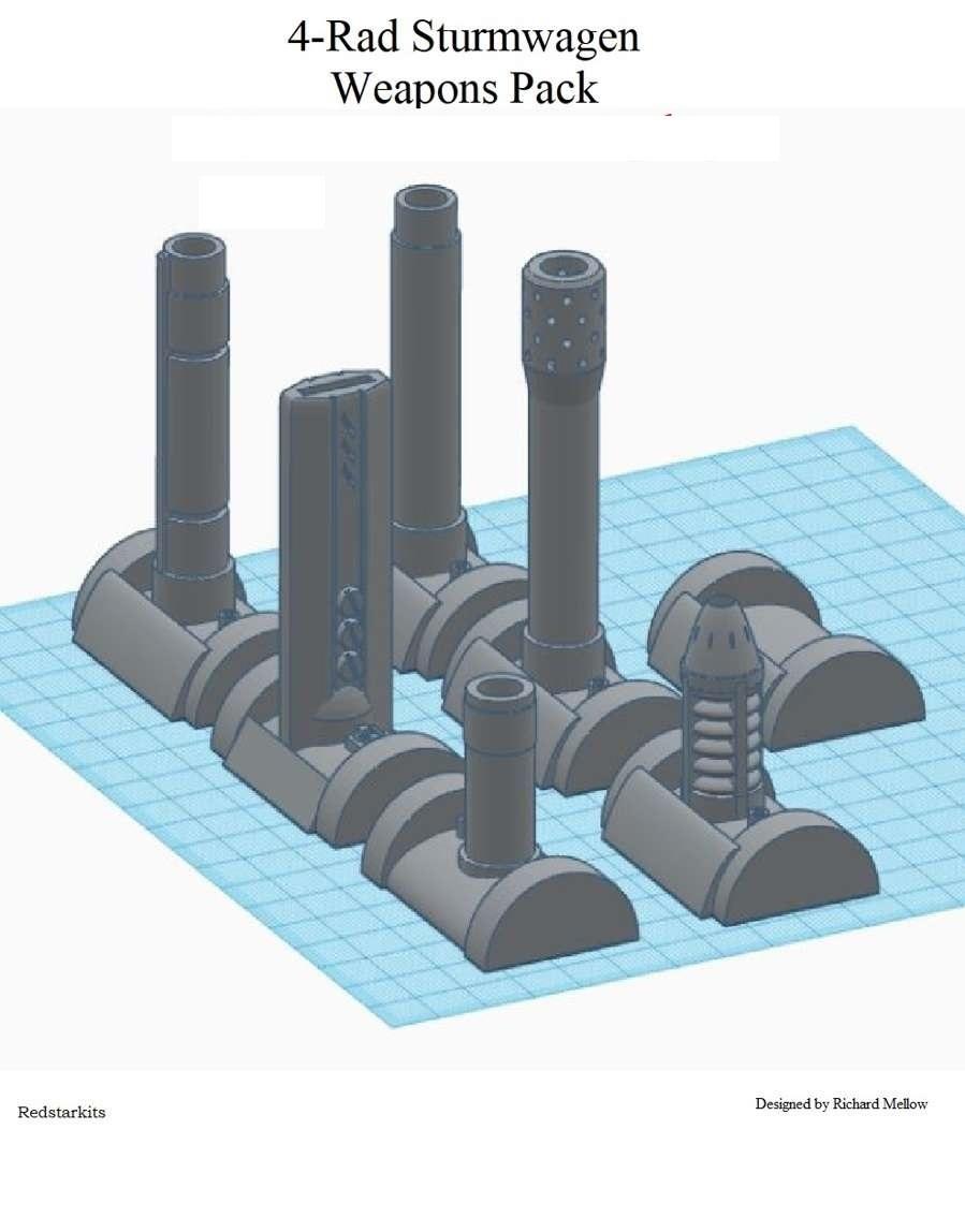 239050.jpg Télécharger fichier STL gratuit Options d'armes pour 4 Rad Sturmwagen • Objet pour imprimante 3D, redstarkits