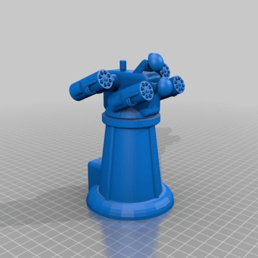 Télécharger fichier 3D gratuit Tour anti-aérienne pour wargames 28mm, Warhammer, Star wars, Gas lands ect, redstarkits