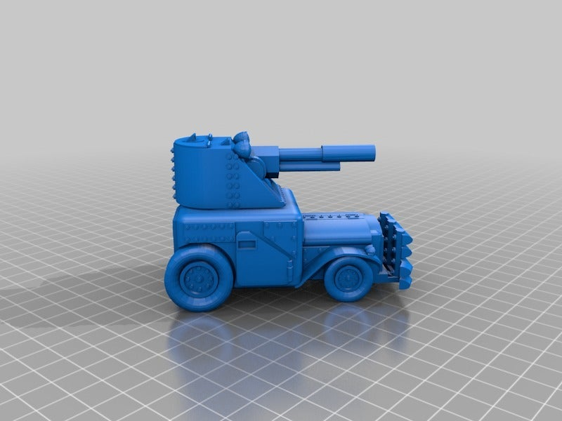 48d3db12ee9653e0b34df99121251ac9.png Download free STL file Ork / Orc armoured Light attack vehicle / War Buggy • 3D printing object, redstarkits