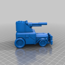 Download free 3D printer designs Ork / Orc armoured Light attack vehicle / War Buggy, redstarkits