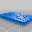 GW_style_50mm___75mm_rectangle_Cracks_1.png Download free STL file 75mm * 50mm rectangular Base for wargames Warhammer fantasy battle • 3D printable object, redstarkits