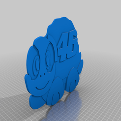Download free 3D printer designs Valentino rossi tortuga logo, josezalseva