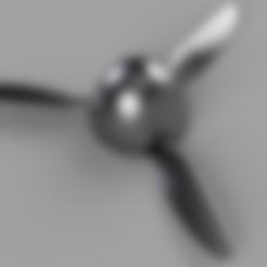 "Descargar modelo 3D Hélice plana RC | Tres palas | BF109 G10 | 14x8"". | Prueba de empuje, McKDesigns"