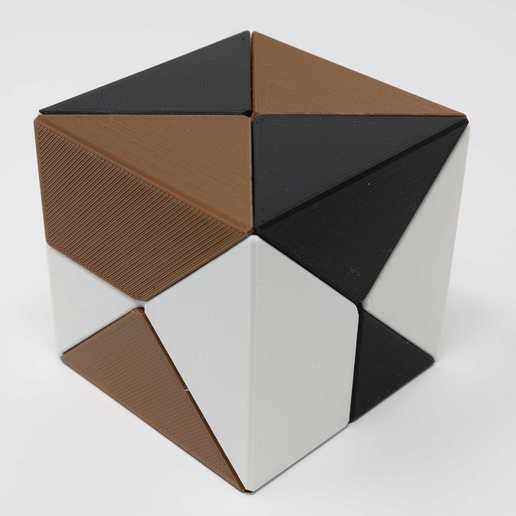 Download free 3D print files Diagonal Cube Puzzle, gibell