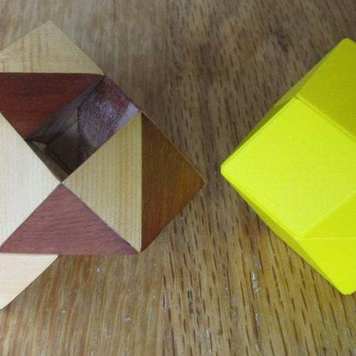 Download free 3D printing designs Orchid Pennyhedron Puzzle, gibell