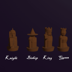 Download free 3D printer designs Fantasy Human Custom Chess pieces, virgilius1995