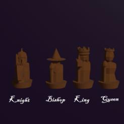 Télécharger fichier STL gratuit Pièces d'échecs humaines personnalisées de fantaisie • Design pour imprimante 3D, virgilius1995
