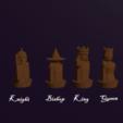 Download free 3D printer designs Fantasy Human Custom Chess pieces, virgilius1995