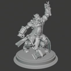 thrall.PNG Download free STL file World of Warcraft - Thrall • 3D printing design, hertelandrey