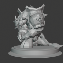 Imprimir en 3D gratis Tauren Paladin, hertelandrey