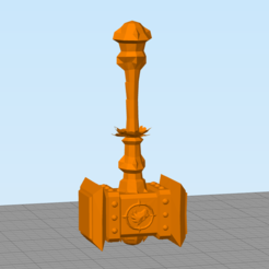 Download free STL file Thrall's Doomhammer • Template to 3D print, hertelandrey