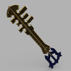 Ends_of_the_Earth_2020-Jan-15_08-34-13PM-000_CustomizedView9904021091.png Download STL file Ends of the Earth Keyblade -Terra • Model to 3D print, Kokorone