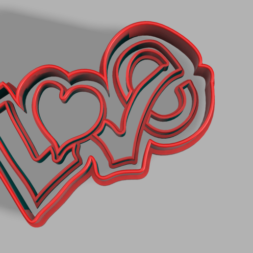 Download free STL files Love cookie cutter ・ Cults