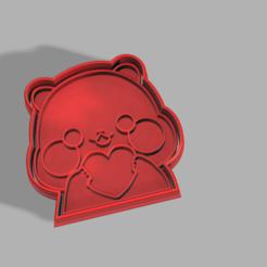 Télécharger modèle 3D Coeur de panda, pc3dtepic