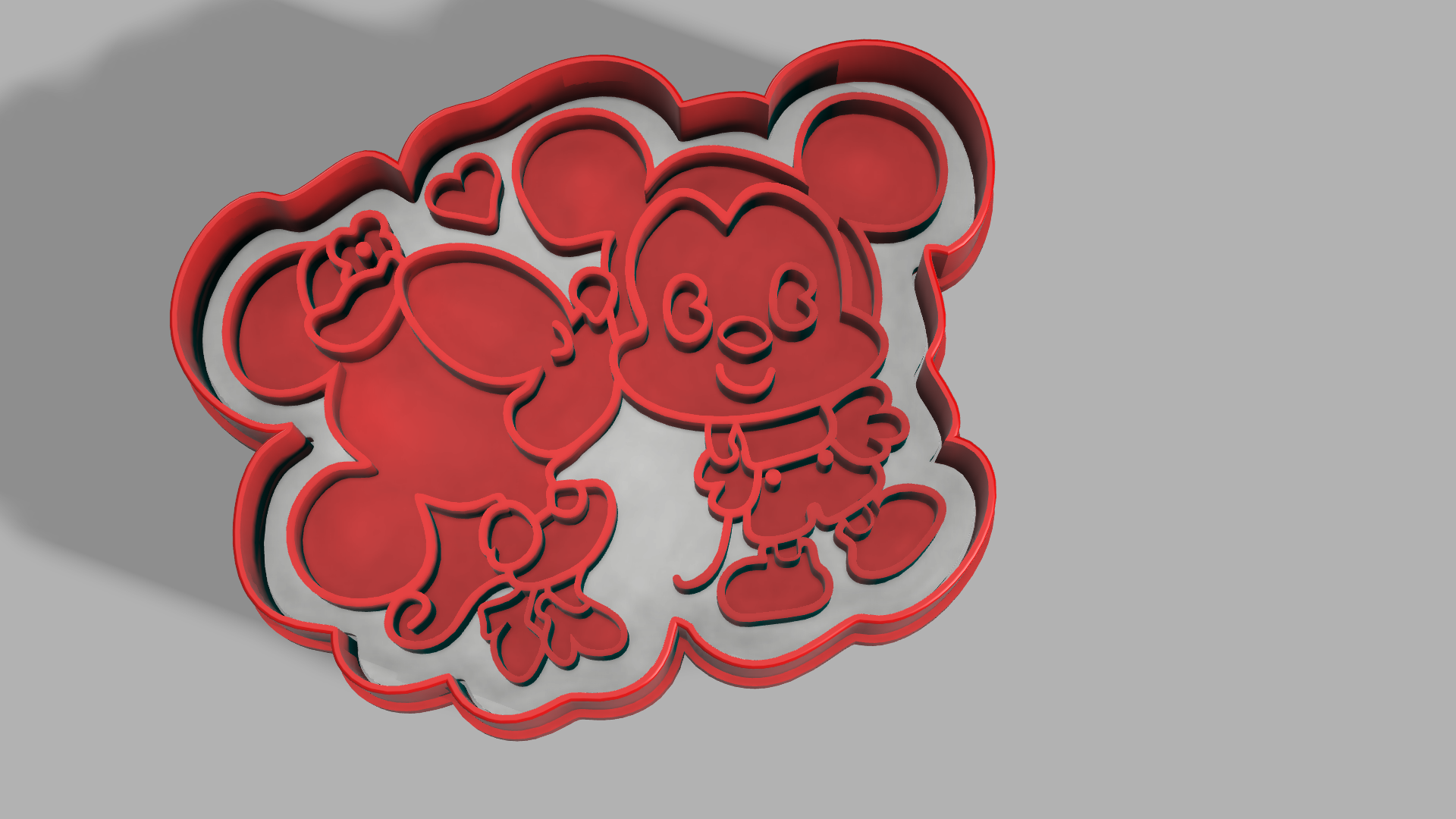 Download 3d Printer Model Minnie Amp Mickey Mouse Cutter Cults