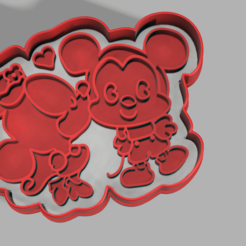 Cortadores 25Enero v1.png Download STL file Minnie & Mickey Mouse Cutter • 3D printer object, pc3dtepic