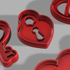 Impresiones 3D Juego Cortador de galletas: Llave y Candado , pc3dtepic