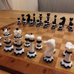picture (2).jpg Télécharger fichier STL Jeu d'échecs bicolore • Modèle pour impression 3D, Janis_Bruchwalski