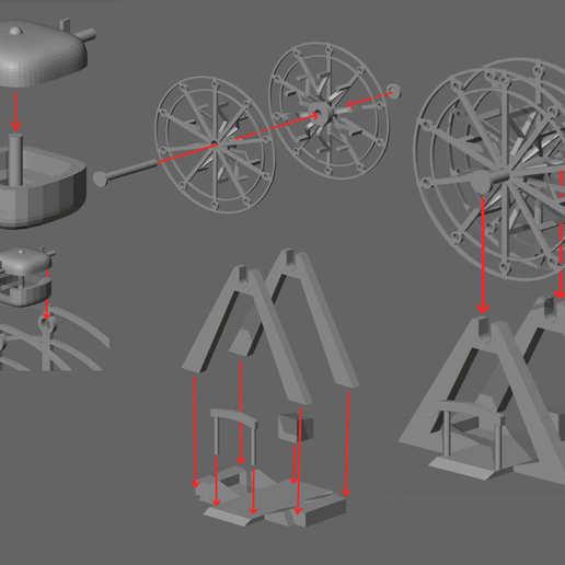 Assembly.jpg Télécharger fichier STL La grande roue • Plan pour imprimante 3D, Janis_Bruchwalski