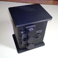 Télécharger fichier imprimante 3D Coffre-fort mécanique avec serrure codée. Porte-cartes USB/SD, postsitnikov