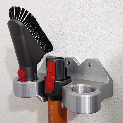 Descargar STL Soporte de pared para el cabezal de la aspiradora Dyson, Dianoga
