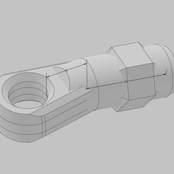 Rodend.jpg Download OBJ file Axial Capra Rod End • 3D print template, 3DThingKing