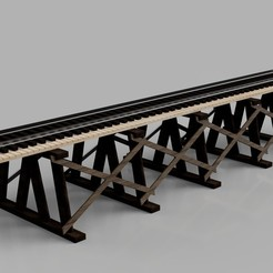 Download 3D printing files Vintage wooden bridge HO, romainrmz