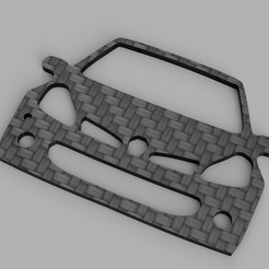 Clio_3_RS_2020-May-03_09-31-54PM-000_CustomizedView11151594825_jpg.jpg Download STL file Clio 3 RS Keychain • 3D print object, romainrmz