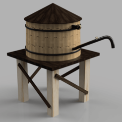 Silo_Americain_2019-Nov-16_10-27-00PM-000_CustomizedView4791653957.png Download STL file HO American Style Silo • 3D printable model, romainrmz