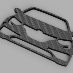 rendu.jpg Download STL file Keyring Renault Megane 4 RS • Template to 3D print, romainrmz