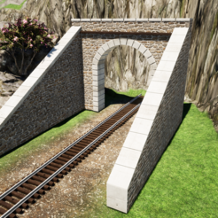 Image 03.png Download STL file HO tunnel entrance • 3D print design, romainrmz