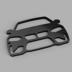 rendu.jpg Download STL file Keychain BMW M2 • 3D printable template, romainrmz