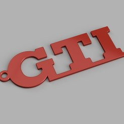rendu.jpg Download STL file Wolkswagen GTI Keychain • 3D printing model, romainrmz