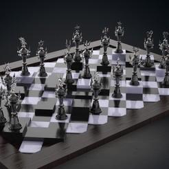 Kingdom Hearts Chess.jpg Download STL file Kingdom Hearts 3D Chess for PRINT • 3D printable template, fabio_rossi07