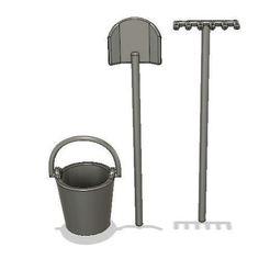 Capturesrp.JPG Download free STL file zen garden, shovel, bucket • 3D printing object, Toyou