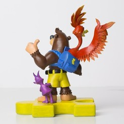 Download 3D printer designs Banjo-Kazooie Collectible Statue, Poney769