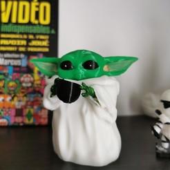 Download free 3D printing designs Baby yoda cup, shiriu11